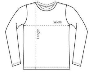 Long sleev t-shirt size_guide