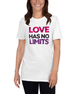 Love has no limits. Cool unisex white t-shirt | Flirtytshirts.store