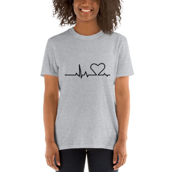 Premium gray shirt. Heartbeat t-shirt | Flirtytshirts.store
