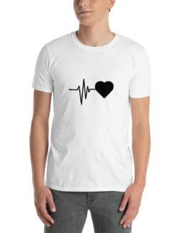 Heartbeat t-shirt. Cool fashion white shirt | Flirtytshirts.store