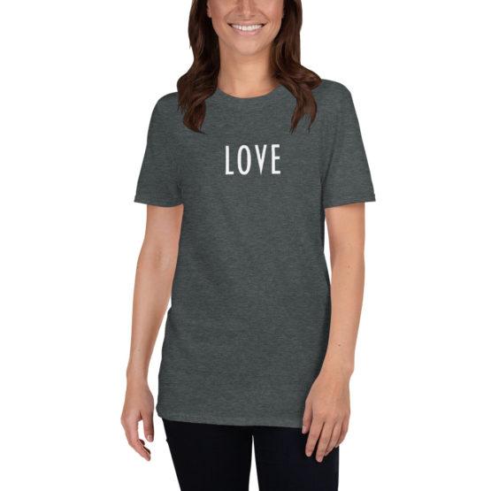 Fashion darck gray love t-shirt | Flirty T-shirts Store
