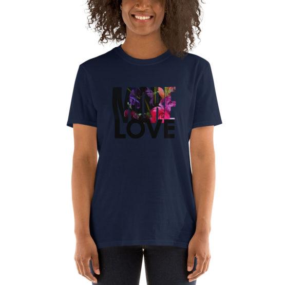 More Love. Premium fashion navy t-shirt | Flirtytshirts.store