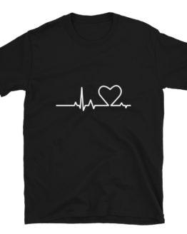 Heartbeat t-shirt. Fashion Cool blak shirt | Flirtytshirts.store