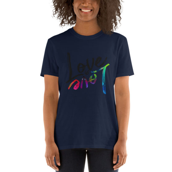Love is love cool unisex navy t-shirt | Flirtytshirts.store