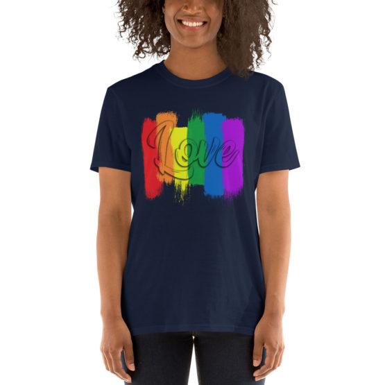 Сolorful love navyt-shirt. Cool unisex teeshirt | Flirtytshirts.store
