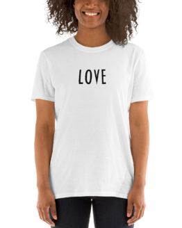 Stylish white love t-shirt for girl | Flirtytshirts.store