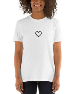 Fashion cute white t-shirt. Big love in a little heart| Flirtytshirts.store