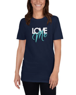 Love me. Cool fashion navy t-shirt | Flirtytshirts.store