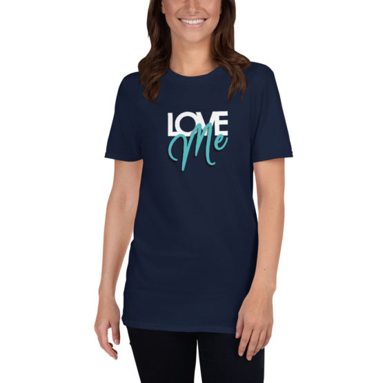 Love me. Cool fashion navy t-shirt | Flirtytshirts.store