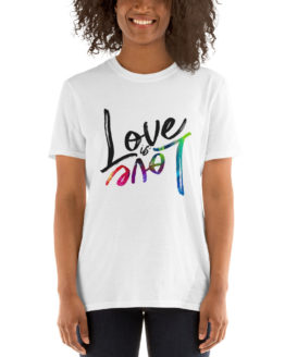 Love is love cool unisex white t-shirt | Flirtytshirts.store