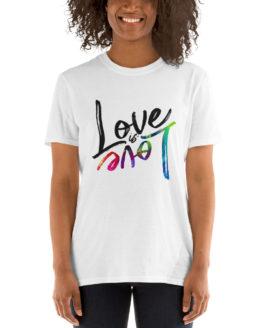Love is love cool unisex white t-shirt | Flirtytshirts.store
