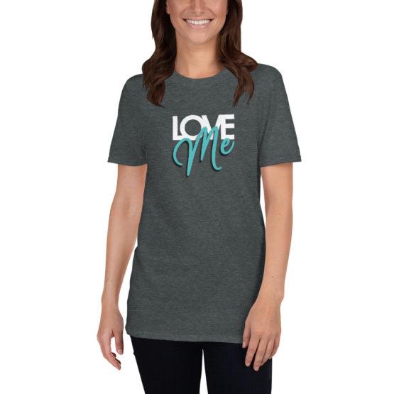 Love me. Cool fashion gray t-shirt | Flirtytshirts.store